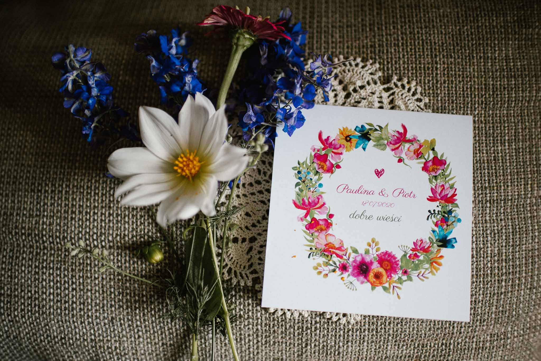 Zaproszenie ślubne - ślub w stodole w Dyrkowie
