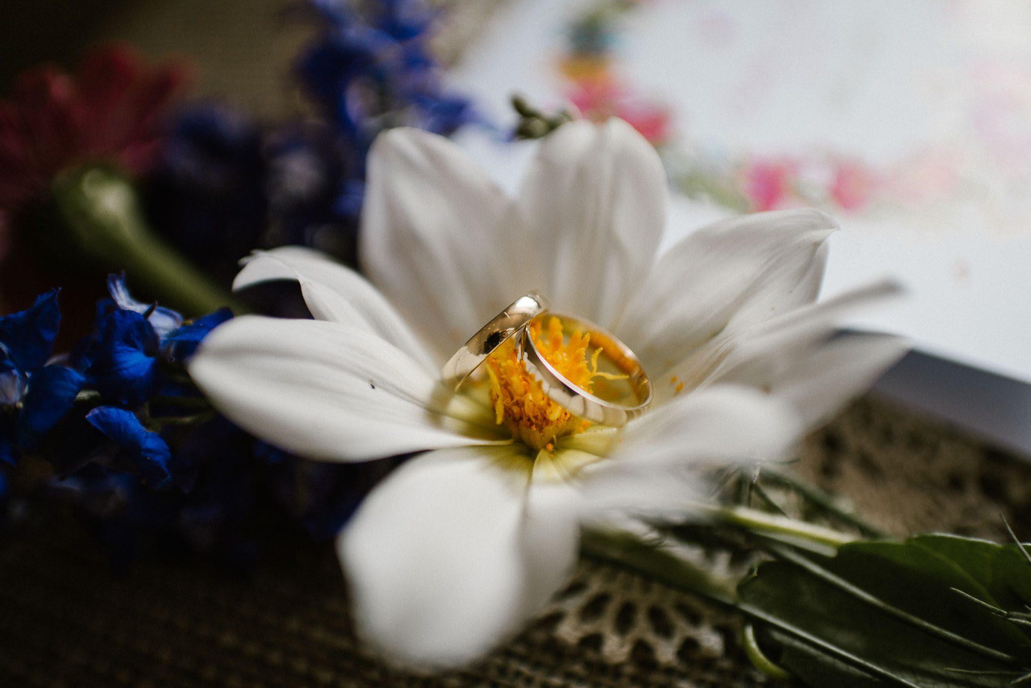 Obrączki - ślub w stodole w Dyrkowie