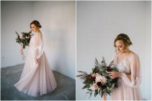 Panna młoda kręci się w suknu ślubnej - sesja ślubna Biskupice Siedem Drzew