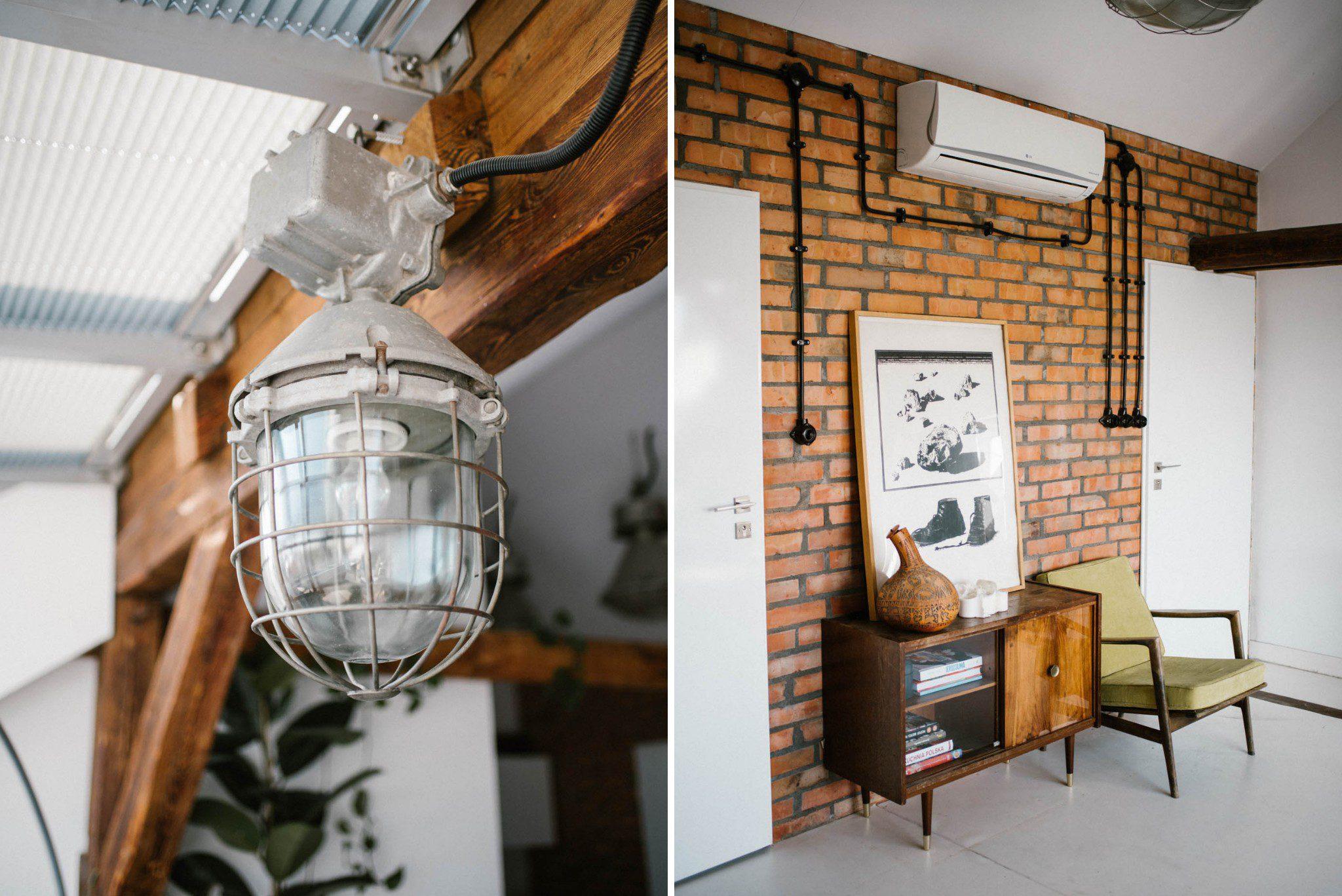 Salon w industrialnym stylu - sesja miłosna lifestyle Poznań Pani Woźna
