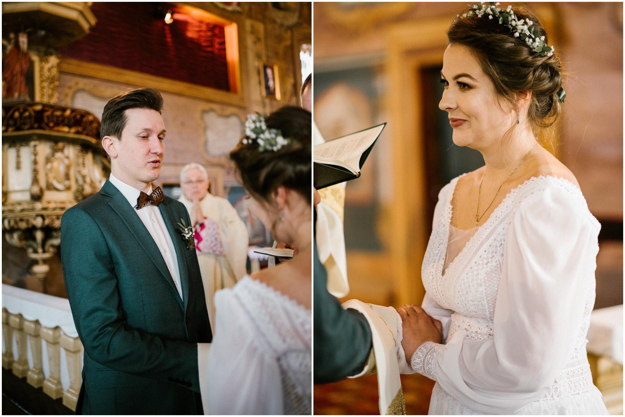 Przysięga małżeńska - sesja ślubna reportaż Żuczki Inowrocław