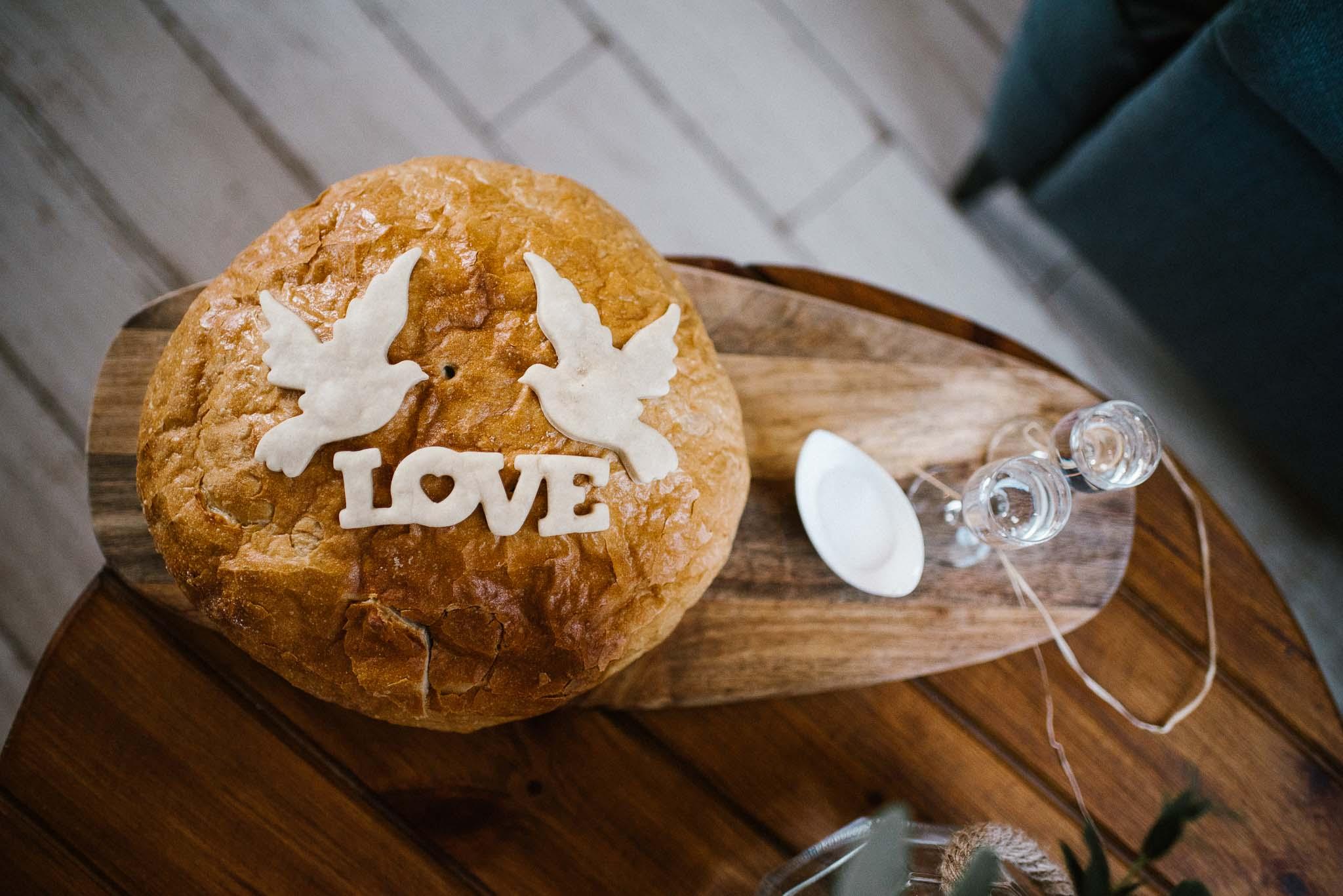 Przywitanie chlebem i solą - ślub w Stodole Bojanowo