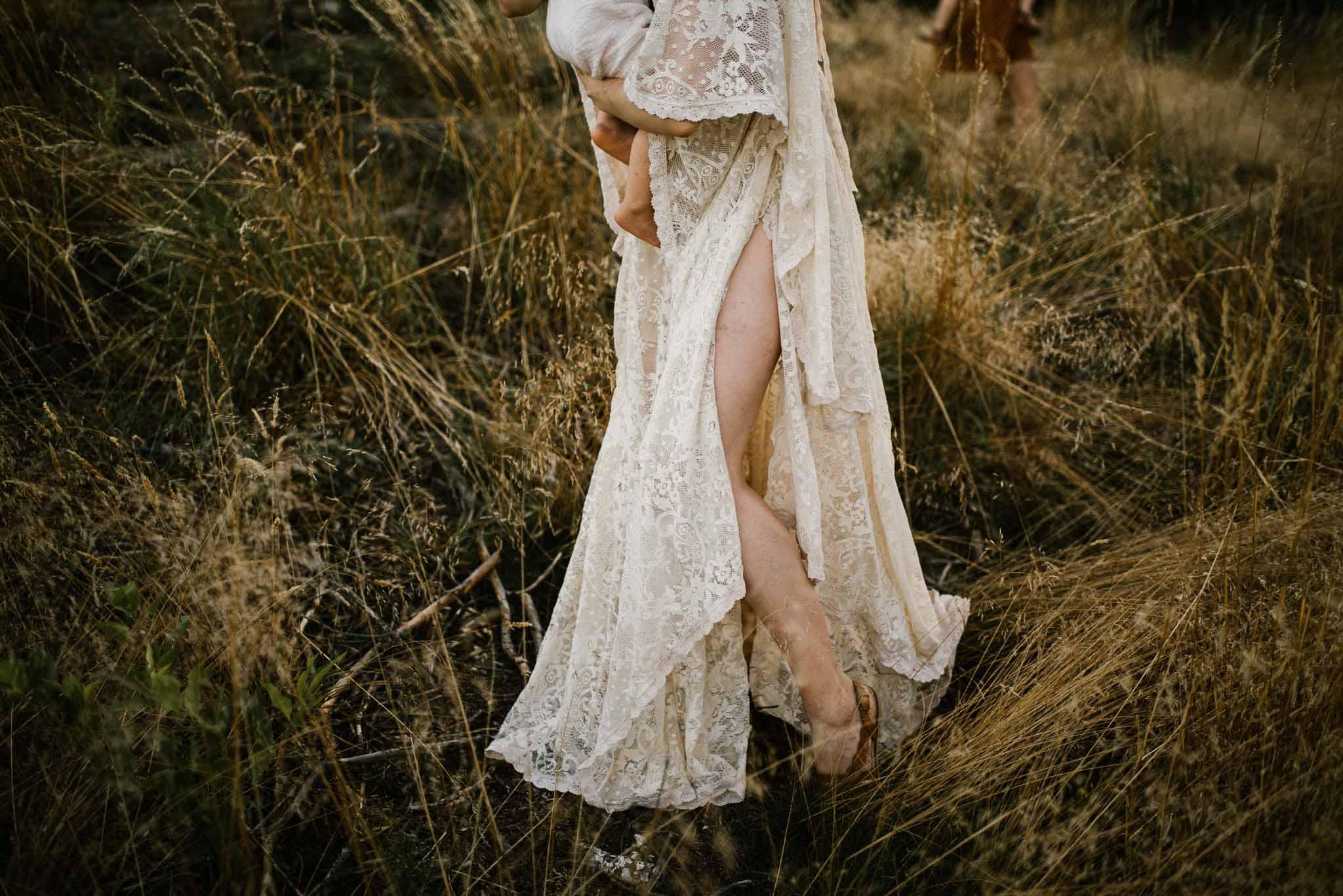 Koronkowa sukienka boho do sesji